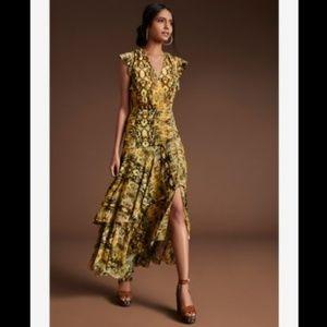 Bar III Ruched Python Printed Maxi Dress